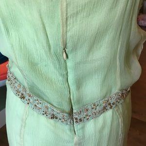 nataya Dresses - Light green spaghetti strap sheer and short dress